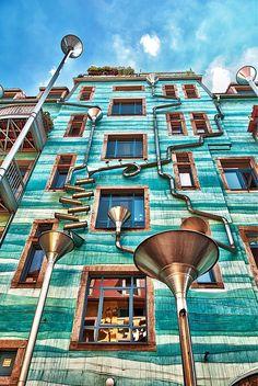 Neustadt Kunsthofpassage within Dresden, Germany (Musical Wall!!)