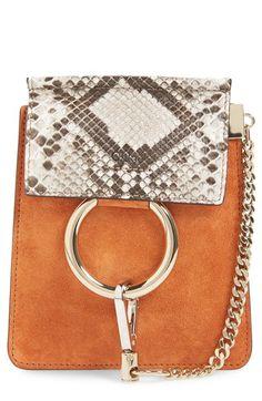 Chloé 'Faye' Genuine Python Crossbody Bag