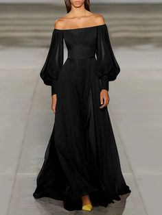 Sexy Maxi Dress, Maxi Dress With Sleeves, Sexy Dresses, Short Dresses, Fashion Dresses, Black Dress Long Sleeve, Dress Black, Floral Evening Dresses, Elegant Dresses