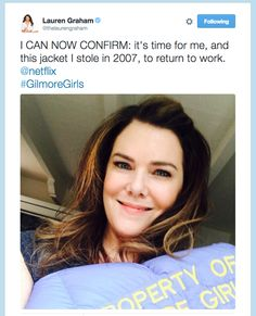 """Everyone Lost Their Minds About New """"Gilmore Girls"""" Episodes Officially Coming To Netflix Gilmore Girls Episodes, Watch Gilmore Girls, Gilmore Girls Quotes, Gilmore Girls Fashion, Luke And Lorelai, Rory And Jess, Lorelai Gilmore, Glimore Girls, Girls Life"""