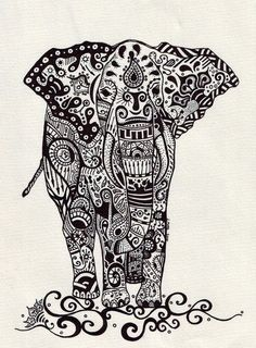 elephant. Beautiful. Would be a killer tattoo.
