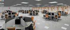Renders de oficinas: call center