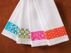 Sewing kitchen towels