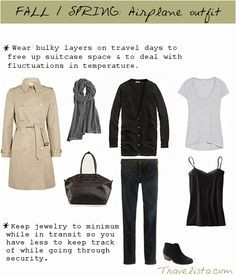 Packing Essentials for Fall and Spring : Outfit Options for travel and sightseeing