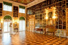 Painting (Canvas) Hall at the Grand Palace in Peterhof, west of Saint-Petersburg, Russia