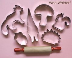 @Erin Heilmeier - this is a combination of both of our loves Gnome and forest friends cookie cutters <3 <3
