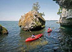 Paddling Lake Erie - photo credit: Columbus Dispatch