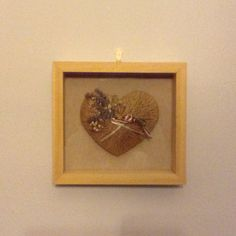 My wedding ring pillow framed