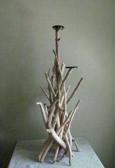 3 Foot Tall 3 Pillar Candle Driftwood by DriftingConcepts on Etsy
