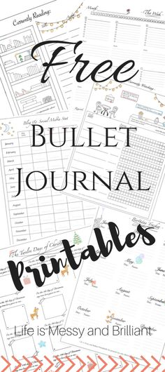 FREE bullet journal printables and PDF templates to help you organize your planner. Each bullet journal printable is filled with colorful images and flowers to add a touch of feminity to your planner. Bullet Journal Original, Key Bullet Journal, Bullet Journal Stickers, Planner Bullet Journal, Bullet Journals, Bullet Journal Grade Tracker, Bullet Journal Birthday Tracker, Bullet Journal Inserts, Creating A Bullet Journal