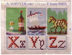 Rouyer: X is for sherry (Xeres) -  Y is for Yacht - Z is for zebra (Zebre)