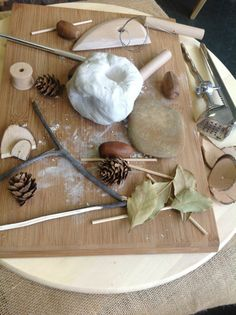 Clay and natural materials - image shared by Zart Art Play Based Learning ≈≈
