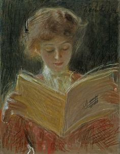 poboh: Absorbed in Reading, Teodor Axentowicz, Polish (1859 - 1938)