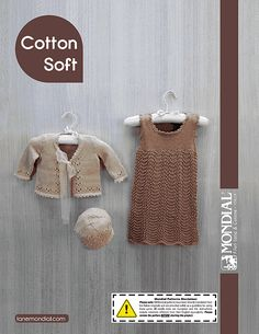 Ravelry: Cotton Soft Baby Jumper and Cardigan pattern by Lane Mondial; free