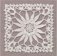 Ivelise Hand Made: In Square Crochet Wonderful Crochet Square Pattern, Crochet Motif Patterns, Crochet Symbols, Crochet Blocks, Crochet Diagram, Crochet Chart, Crochet Squares, Lace Patterns, Thread Crochet