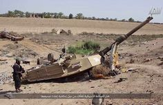 Abrams turret near Ramadi (Iraq)