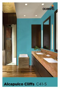 Wood Stain Colors From Natural Clear Stains To Solid Color Stains, Find The Right Wood Stain Color For Your Deck At Olympic. Popular Paint Colors, Teal Paint Colors, Bathroom Colors, Most Popular Paint Colors, Wood Stain Colors, Blue Paint, Teal Paint, Blue Paint Colors, Color