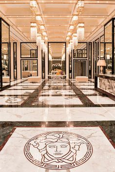 Interiors designed by Versace Home www.versacehome.it