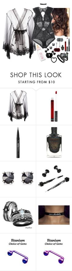"""""""future!lila - """"something nice"""""""" by kinathegreat ❤ liked on Polyvore featuring I.D. SARRIERI, Kat Von D, Juicy Couture and Hot Topic"""