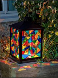 stained glass lantern #StainedGlasses