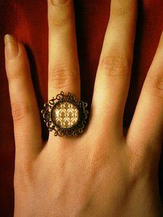 221B Baker Street - Sherlock BBC inspired ring. $5.00, via Etsy.