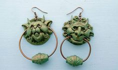 Labyrinth Movie And Book Door Knocker Earings- silvered material instead of the bronzed look, and they're totally me!