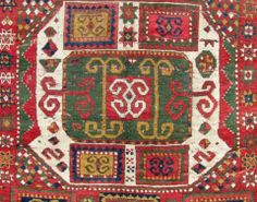 Detail of lot 409, a mid 19th century Karachoph Kasak, Kaukasus. Size 215 cm x 152 cm. Homm auction including carpets 24 May 2014