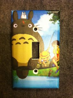 My Neighbor Totoro Light Switch Cover - Switchplate - Switch Plate Cover. $6.00, via Etsy.