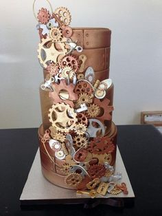 Love steampunk weddings! They are original, unforgettable and remind of masquerades! This is a perfect idea to use your imagination. We've just told you of some cool steampunk bridal dresses, and today I'm all into sweets! But these are...