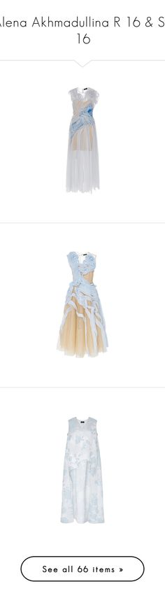 """Alena Akhmadullina R 16 & SS 16"" by tamotsertsva ❤ liked on Polyvore featuring springsummer, Resort, SS16, AlenaAkhmadullina, r16, dresses, alena akhmadullina, sleeveless dress, sleeveless midi dress and flared midi skirt"