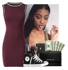 """""""7.18.16"""" by heavensincere ❤ liked on Polyvore featuring MAKE UP FOR EVER, Michael Kors and Converse"""