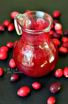 Homemade Cranberry Syrup    from willcookforsmiles.com #syrup #cranberry