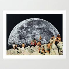 MOONRISE Art Print by Beth Hoeckel Collage & Design - $18.00