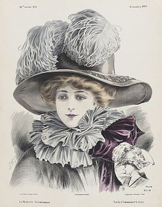 French millinery print 1908