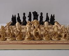 """Sea Life"" chess set Sculpted by Bob Maurus."