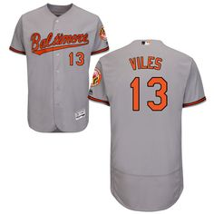 c1ce54be7 Men s Baltimore Orioles Majestic Road Gray Flex Base Authentic Collection  Custom Jersey