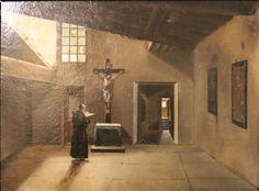 """François Marius Granet: """"Moine lisant devant un grand crucifix"""" Musée d'Art et d'Histoire de Provence"""