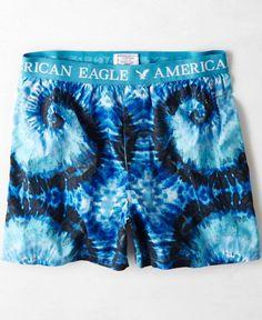 American Eagle Tie Dye Boxer, Men's, Blue