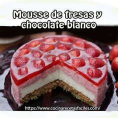 Mousse de fresas y chocolate blanco