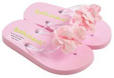 Kate Mack Pink Girls Flip Flops Blooming Roses