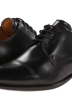 ECCO Cairo Modern Cap Toe Tie (Black) Men's Lace Up Cap Toe Shoes - ECCO,  Cairo Modern Cap Toe Tie, 631714-01001, Footwear Closed Lace Up Cap Toe, ...