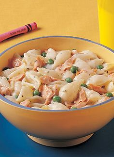Canned Salmon - Recipes - Entrees - Creamy Alaska Salmon Pasta - could not find the garlic sauce called for in the recipe so used alfredo, mixed results. Salmon Dishes, Fish Dishes, Seafood Dishes, Pasta Dishes, Seafood Recipes, Vegetarian Recipes, Cooking Recipes, Healthy Recipes, Wrap Recipes