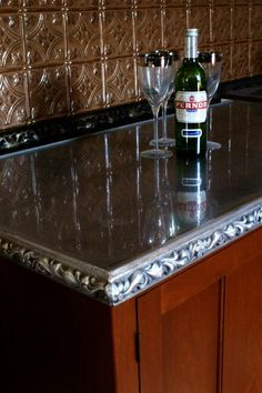 French Pewter counter tops.
