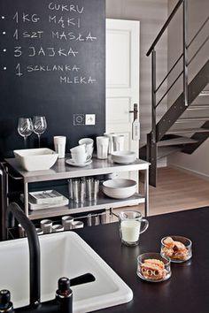 Aneks kuchenny ze ścianą-tablicą