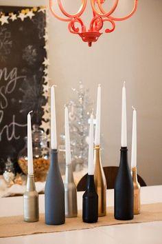 Christmas table: 5 DIY deco - Home - noel Noel Christmas, Christmas Toys, Christmas Candles, Modern Christmas, Scandinavian Christmas, Christmas Table Decorations, Wedding Decorations, Diy Centerpieces Cheap, Table Centerpieces
