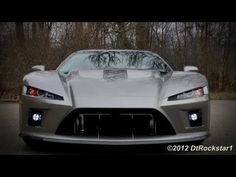 Falcon F7: made by Michigan-based Falcon Motor Sports, the Falcon F7 has an aluminum and carbon fiber chassis, a 620hp 7.0L V8 engine and hydraulically-assisted braking. Skip to 1:12 for the test drive.