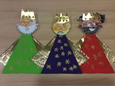 Kids Crafts, Christmas Crafts For Kids To Make, Christmas Art, Diy And Crafts, Christmas Decorations, Christmas Ornaments, 3 Kings Day Crafts, Epiphany Crafts, Puppet Making