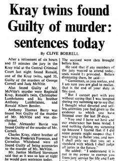 4th March 1969 - Kray twins are found guilty