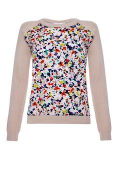 Kandinsky Floral Print Knit Top
