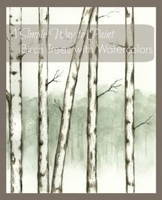 This is a fun and simple way to paint birch trees with watercolors for beginners to advanced painters.